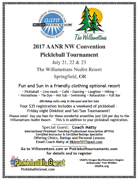 2017 AANR NW Convention and Pickleball Tournament
